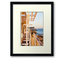 yacht by the fortress Framed Print