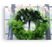 Orchid Wreath Canvas Print