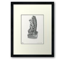 Weeping Angel Statue Framed Print