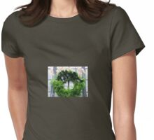 Orchid Wreath Womens Fitted T-Shirt