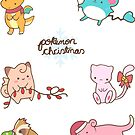 Pokemon Christmas Sticker Sheet by Steph Hodges