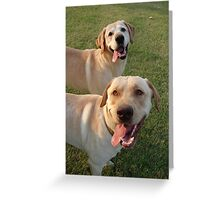 Tongues to the Right Greeting Card