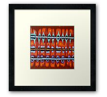 ah the fabric of life Framed Print