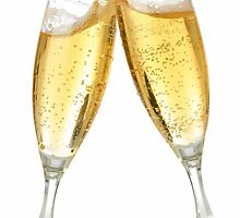 Champagne Glasses  by BevsandBecka