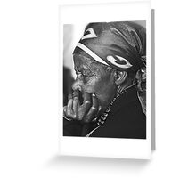 Old lady Rwanda Greeting Card