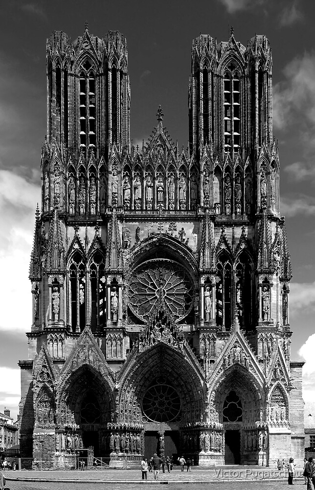 Reims Cathedral by Victor Pugatschew