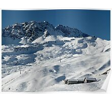 Swiss Winter Snow Scene Poster