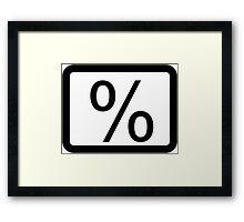 % Percentage Button Framed Print
