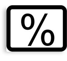 % Percentage Button Canvas Print
