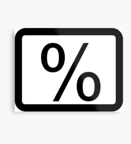 % Percentage Button Metal Print