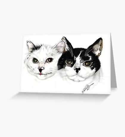 My mates cheeky we cats  Greeting Card