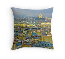 Rooftops of Paris Throw Pillow