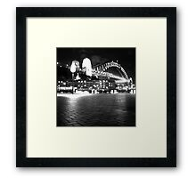 Sydney Harbour Bridge by Night Framed Print