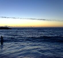 Christmas day the sunset, Cottisloe beach near Perth Austrailia december 25th 2005 by johnnyknocks