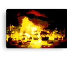 Bombardment of Algiers by Lord Exmouth in August 1816 - all products bar duvet Canvas Print