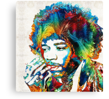 Jimi Hendrix Tribute by Sharon Cummings Canvas Print
