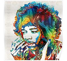 Jimi Hendrix Tribute by Sharon Cummings Poster