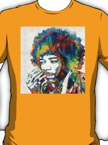 Jimi Hendrix Tribute by Sharon Cummings T-Shirt