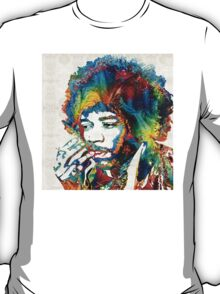 Jimi Hendrix Tribute by Sharon Cummings T-Shirt