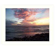 Sunset on Pass-a-Grill Art Print