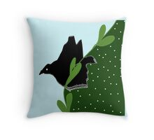 Crow abstract Throw Pillow