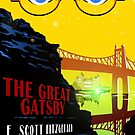 Retro The Great Gatsby Travel Poster by Olivia McNeilis