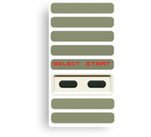 Select - Start NES Pad controller buttons. Canvas Print