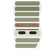 Select - Start NES Pad controller buttons. Poster