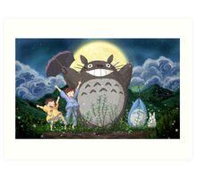 Beautiful Totoro - Digital Art Art Print