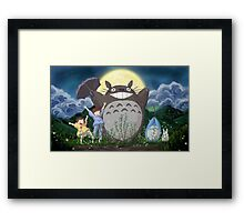 Beautiful Totoro - Digital Art Framed Print