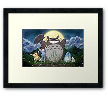Beautiful Totoro - Digital Art Framed Print