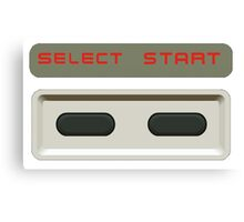 Select Start buttons NES controller pad. Canvas Print