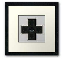Cross NES controller pad buttons. Framed Print