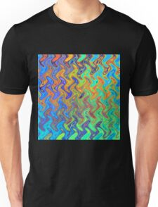 Color Pattern of Abstract Blue and Lilac Unisex T-Shirt
