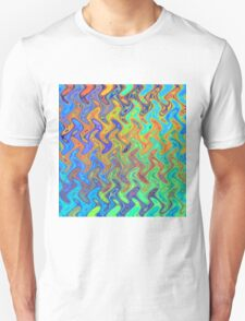 Color Pattern of Abstract Blue and Lilac T-Shirt