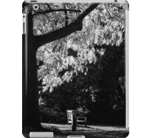 Monochrome Bench Under the Tree iPad Case/Skin