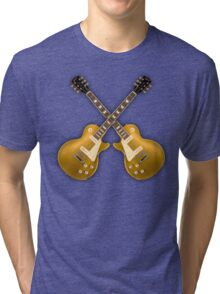Double Gibson Les Paul Goldtop Tri-blend T-Shirt