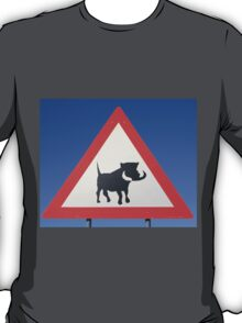 Warthog Warning Sign - Hogs About T-Shirt
