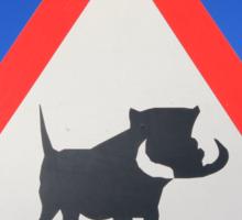 Warthog Warning Sign - Hogs About Sticker