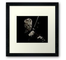 Tuning The Fiddle Framed Print