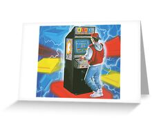 Klax gamer. Amazing arcade cabinet! Greeting Card
