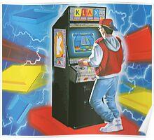Klax. Amazing retro arcade machine cabinet gamer! Poster