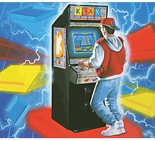 Klax. Amazing retro arcade machine cabinet gamer! Photographic Print