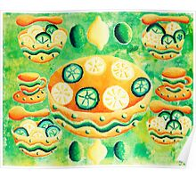 Lemons and Limes with Bowls Poster
