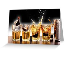 Jager Bombs Greeting Card