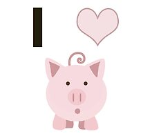 I Heart  (love) Cute Pigs by Eggtooth