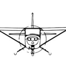 Cessna 172 Skyhawk (front) Sticker