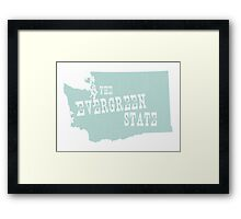 Washington State Motto Slogan Framed Print
