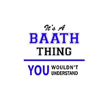 It's a BAATH thing, you wouldn't understand !! by yourname