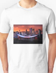 Calgary Skyline at Dusk Unisex T-Shirt